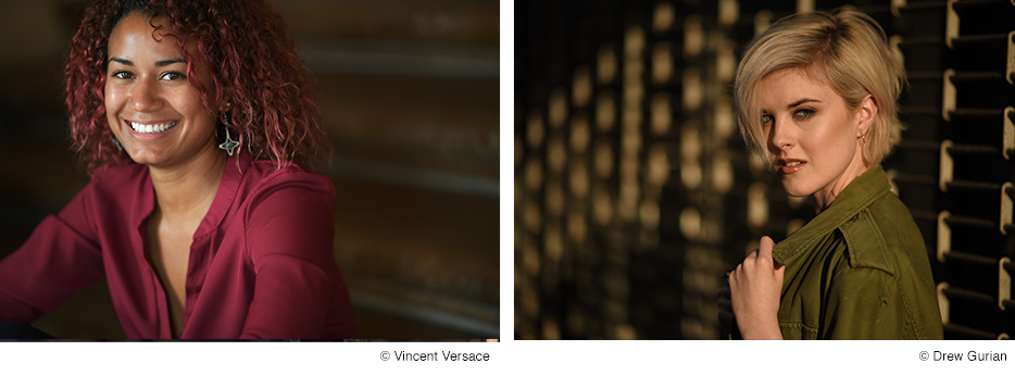 Portraits taken of two women with the new Nikkor 105mm 1.4