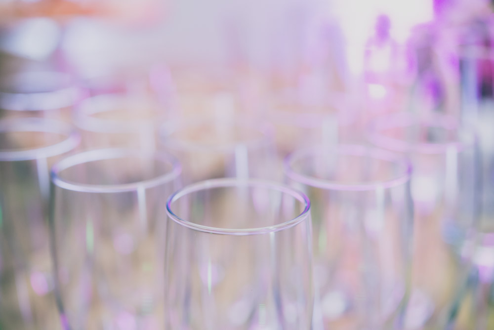 Picture of glass wine glasses to show an example of the image quality of the Nikkor 60mm f2.8 G