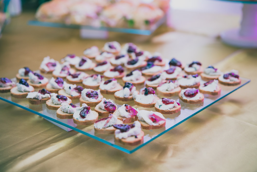 Photo of hor d'oeuvres at a coporate event to show the capabilities of the Nikkor 60mm f2.8 G