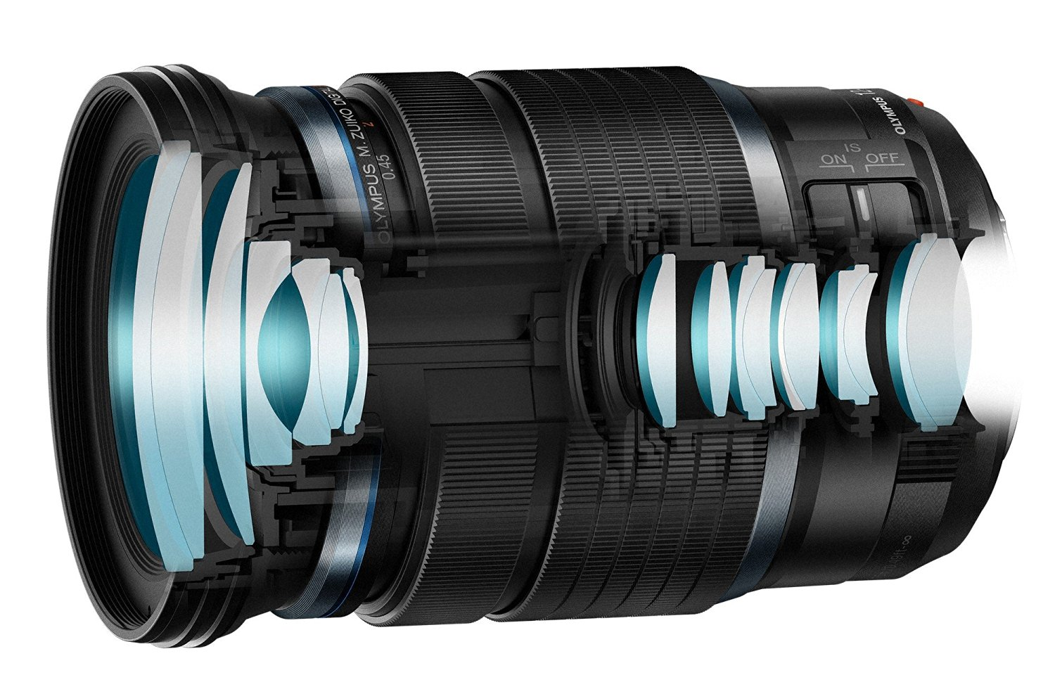 amazon product image that shows the internal lens structure of the 12-100mm f4.0 PRO