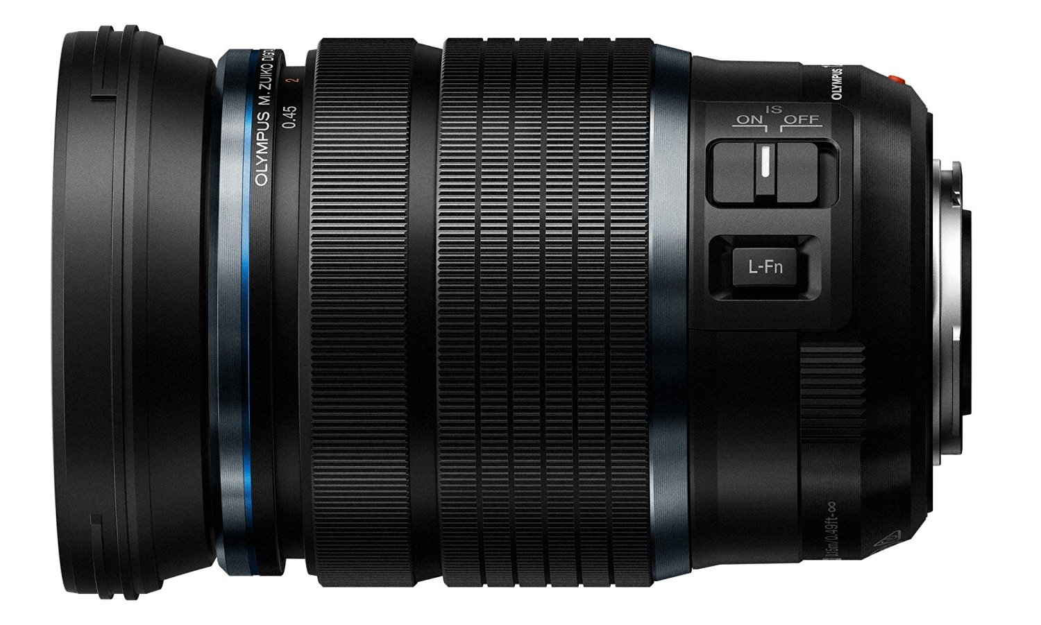 amazon product image of the 12-100mm f4.0 PRO from the side