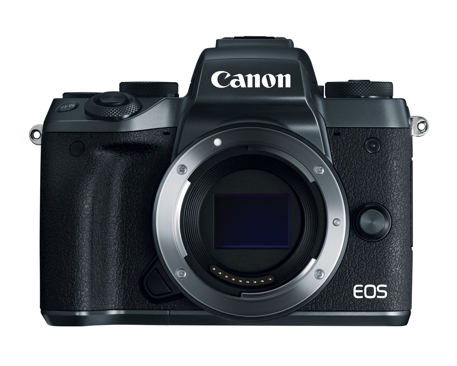 product image of the canon eos m5 front without lens attached