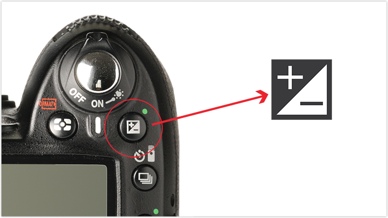 Image showing an exposure compensation button