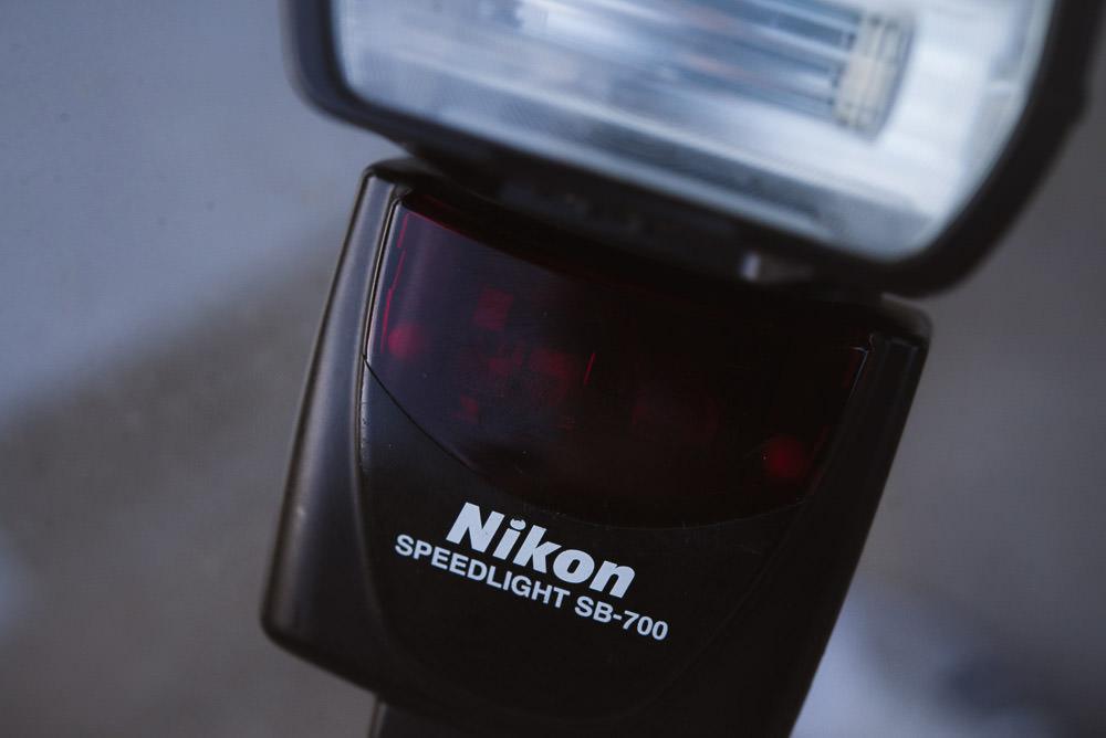 Closeup image of the Nikon SB-700 flash
