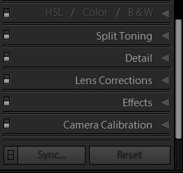 Image of Lightroom detail tab which allows you to make images sharper